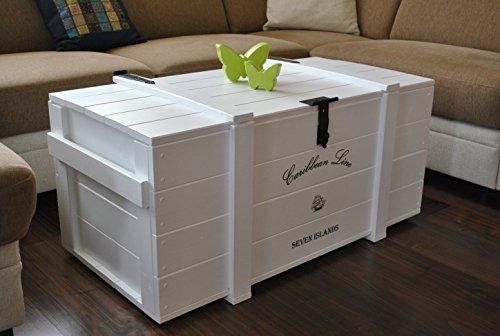 'Caja de madera Mercancías Caja Baúl mesa Shabby Vintage Rústico Caribe