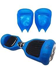 2 Ruedas 6.5 Pulgadas Protector Cubierta Funda de Silicona para Hoverboard Smart Scooter Balance Patinete Electrico Dos Ruedas - azul