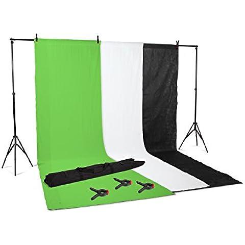 Kenley Kit Primer - Pack de 3 fondos para estudio fotográfico con soporte de 2 x 3 metros