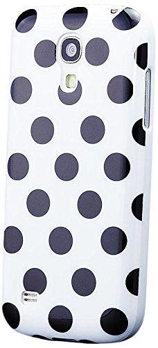 Apple iPhone 5C | iCues pois TPU Case vert | [Protecteur d'écran, y compris] Mesdames Femmes Filles motif motif gel de protection en silicone peau Couvercle de protection Couvercle Coque Housse Sac Ét Blanc/pois noirs