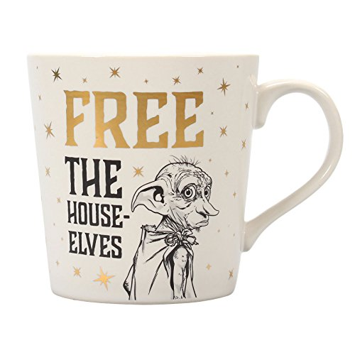 Taza Desayuno Harry Potter Dobby Free The House Elves, 325ml