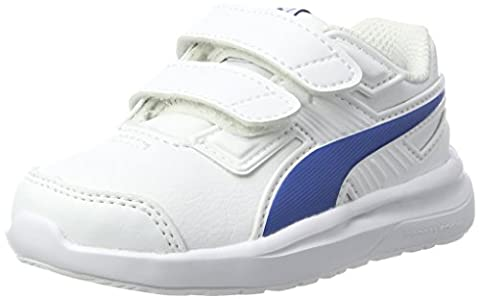 Puma Escaper Sl V Inf, Sneakers Basses Mixte Enfant, Blanc (White-Lapis Blue), 24 EU