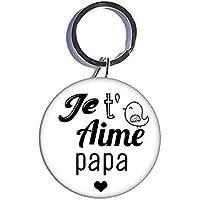 Je T'aime Papa porte-clé 44mm idées cadeaux fête des père papa anniversaire Noel