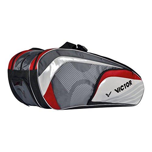 VICTOR Schlägertasche und Sporttasche 9037 Red, 903/5/7 Multithermobag, Rot/Grau/Weiß, One Size
