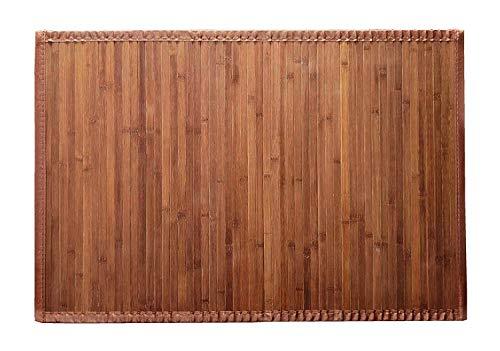 8 Modelos 4 Medidas de Alfombra Bambu Antideslizante/Alfombra de Madera Salon, baño, Cocina y Multiusos (60 x 120 cm, Natural)