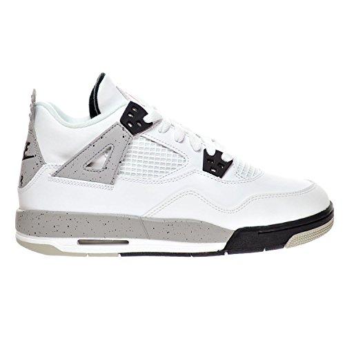 Nike Air Jordan 4 Retro Og Bg, Chaussures de Sport Garçon white/fire red-black-tech grey