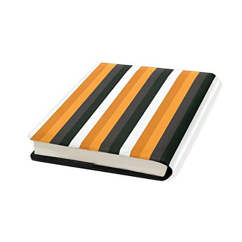 Schutzhülle für Schulbücher, Halloween, Kürbis-Streifen, PU-Leder, 22,9 x 27,9 cm -