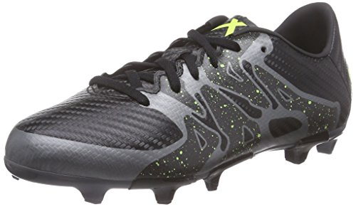 factory price e1d7f 636b4 adidas X 15.3 FG AG J - Botas para niño, color negro   lima   gris, talla 35