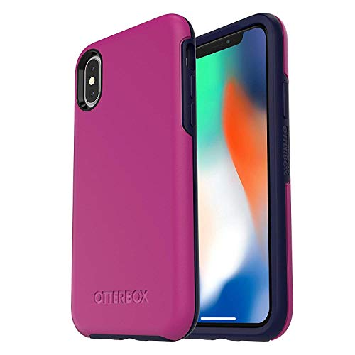 OtterBox Symmetry Series Schutzhülle für iPhone X (Zertifiziert aufgearbeitet), Mix Berry Jam (Purpura/Azul Obscura) Apple Certified Refurbished Iphone