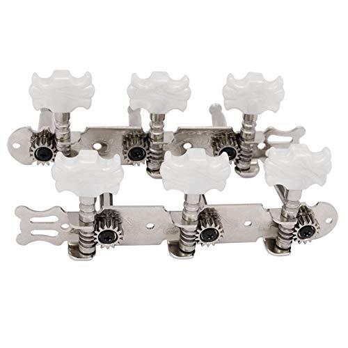 YUnnuopromi 1 Paar Metall Klassische Gitarre String Tuning Pegs Machine Heads Tuners SchlüsselTeile 4# (Fender Head)