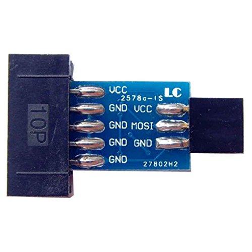 Preisvergleich Produktbild Level 10 Pin zu Standard 6 Pin Adapterkarte AVRISP USBASP STK500 Module Programmer ISP Interface Converter