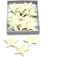 TGG - Estrellas de fieltro blandas (24 unidades, 5 cm), diseño navideño, Fieltro, Crema (vainilla)., 5cm/ 24 Stück