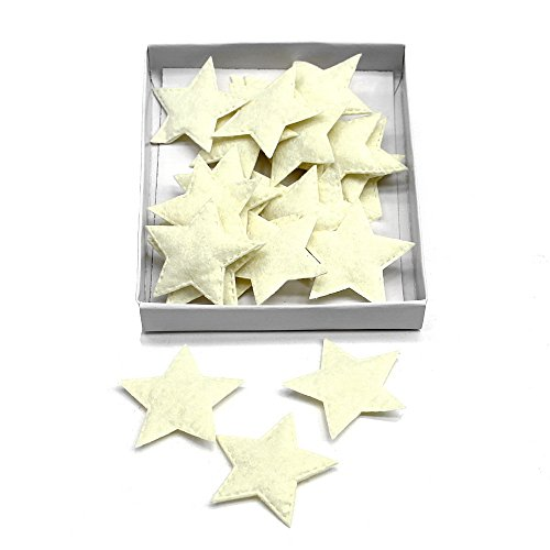24 St. Filzsterne 5cm, weich, Filz Sterne, Streuartikel, Weihnachten (creme (vanille))