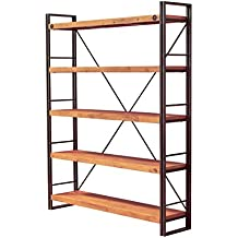 etagere vintage bois metal marron. Black Bedroom Furniture Sets. Home Design Ideas