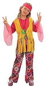 Bristol Novelty CC618 Traje Niña Hippie, Mediano, Edad aprox 5-7 años