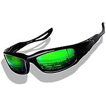 Matrix Sport Sonnenbrille Radbrille Spiegelbrille Brille (Green Matrix) LbbPkscr
