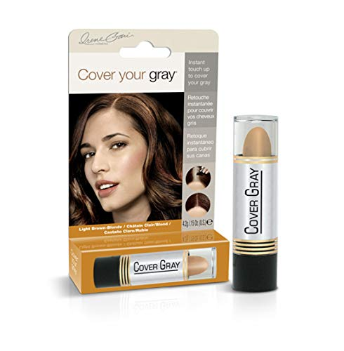 Cover Your Gray Sticks de colorant capillaire pour femme - Application de retouche facile pour cheveux gris - Châtain clair / Blond