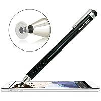 Kmoso® precisión punta fina lápiz capacitivo extremadamente fina puntas con transparente Disc lápiz capacitivo lápiz para pantalla táctil dispositivos (con 3 discos de sustitución gratuita) (negro)
