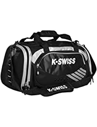 K-Swiss Medium Training Bolsa, Negro / Plata, Talla Única