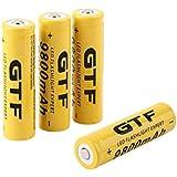 Malloom 4pcs 3.7V 18650 batería recargable de ion de litio de 9800mah para LED linterna antorcha
