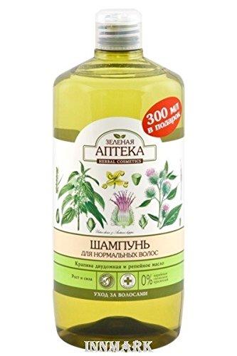 59281Shampooing pour cheveux normaux d'ortie et huile de Bardane 1000ml Vert...