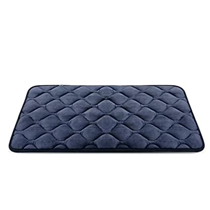 Hero Dog Dog Bed Extra Large Washable Crate Mattress 47 Inch, Soft Non Slip Pet Fleece Cushion Pad Blue XL 2