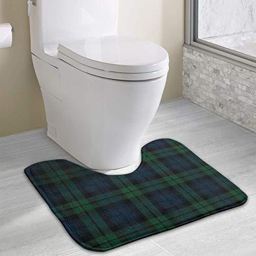Hoklcvd Black Watch Plaid Rutschfeste Badematte für WC, saugfähiges Wasser, perfekt für Badezimmer. Kaufen Sie online Badematten zu den besten Preisen