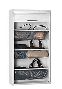 Garofalo m288168Meuble à chaussures 9paires PVC pour porte coulissante Blanc