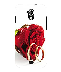 Fuson 3D Printed Rose Designer Back Case Cover for Micromax Canvas HD A116 - D629