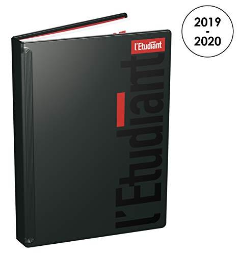 L'Etudiant 100738127 Agenda Journalier 2019 - 2020 de Août à Juillet 1 Jour par Page Format 15 x 20cm Couverture Vinyle Noire