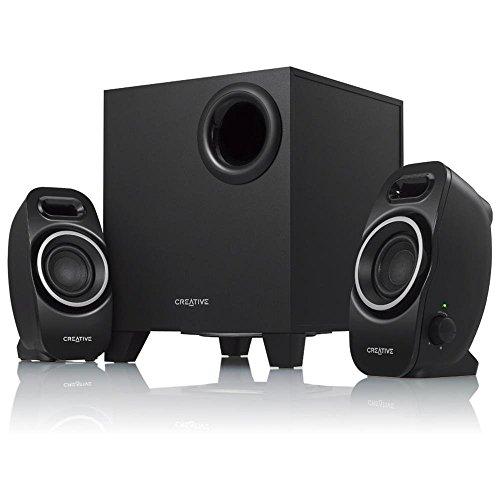Creative A250 2.1 Lautsprecher-System (EIN/Aus -Schalter, Dual Slot Enclosure) schwarz (Zertifiziert und Generalüberholt) (Lautsprecher-schalter)