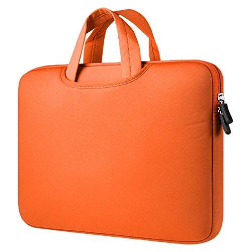 YiJee Notebook Tasche Laptoptasche Wasserfest Laptop Hülle Carrying Bag 12 Zoll Orange