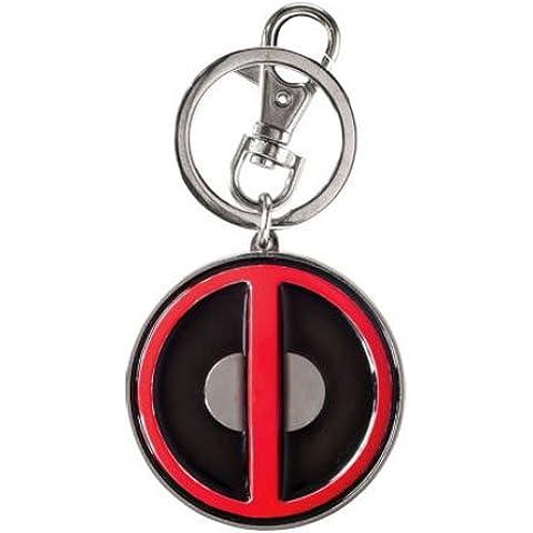 Monogram - Portachiavi Marvel - Deadpool Logo Metal - Logo Ufficiale Pendente Logo A Pendente