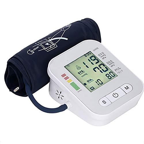 SXFYMWY Tipo Brazo Superior automático Sphygmomanómetro doméstico Inteligente Voz Instrumentos de medición de la presión sanguínea,Gray,11.7x9.7x5.9cm