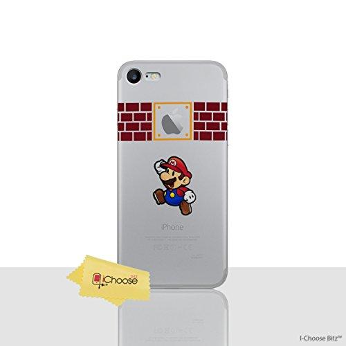 iPhone 5/5s Karikatur Silikonhülle / Gel Hülle für Apple iPhone 5s 5 SE / Schirm-Schutz und Tuch / iCHOOSE / Super Paper Mario