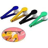 Rosenice - Limpiador de anteojos (5 unidades, cepillo suave, herramienta de limpieza, clip de limpieza)