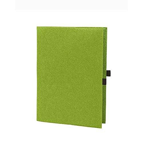 EQT-FASHION Premium Leseschutz Filz Hülle Buch für A5 Notizbücher Filz Buchhülle edler Einband