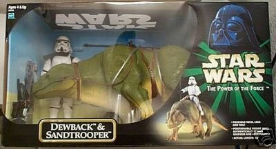 Star Wars Power of the Force 12 Inch Exclusive Dewback & Sandtrooper HUGE by Star Wars (Star Dewback Wars)