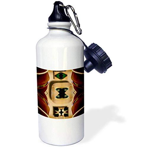 el und Hose, koleidescoped, weiß, lustige Wasserflasche für Kinder, Edelstahl-Isolierer, Reisebecher, 535 ml ()