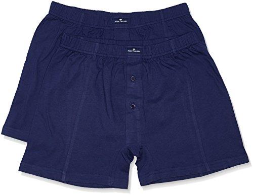 TOM TAILOR Herren Retroshorts Shorts 2er Pack Blau (medieval blue 7179)