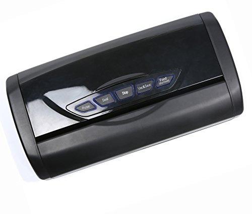 VITAL VAC Envasadora al Vacío Doméstica 5 Funciones 150W, Compartimento para Rollo, Cortador Incorporado, Muy Silenciosa, Presión de Vacío -0,85 Bar, Incuye 1 Rollo 28cm x 300cm Gratis