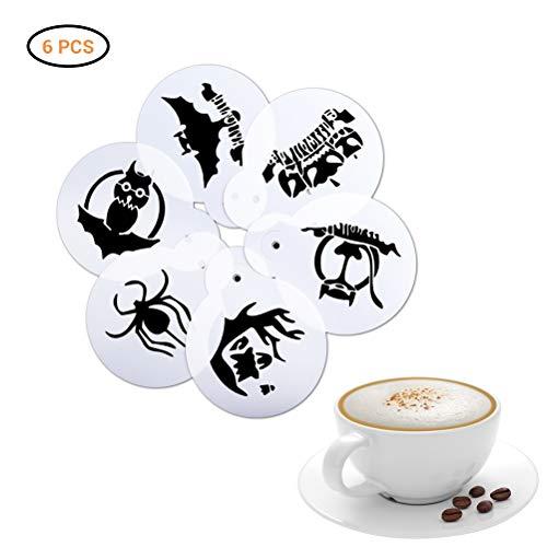 Bweele Plantilla de café de Halloween, Plantillas de decoración de café...