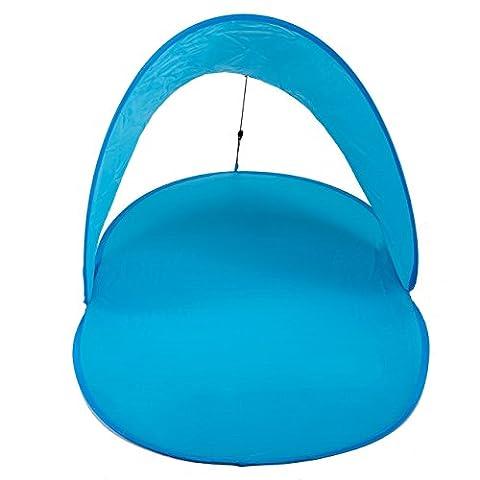 ocona© Pop-Up Strandmuschel SaveSun, Sonnenzelt mit Tasche, blau