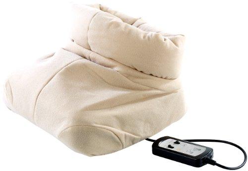 newgen medicals Elektrische Fußwärmer: Kuscheliger 2in1-Fußwärmer mit Shiatsu-Massagefunktion (Fußmassage Geräte)