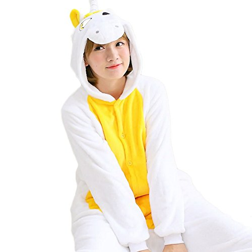 Kinder Halloween Partner Kostüme (Wenyujh Damen Mädchen Tier Schlafanzug Cartoon Einhorn Cosplay Flanell Pyjamas Fasching Halloween Kostüm Jumpsuit)