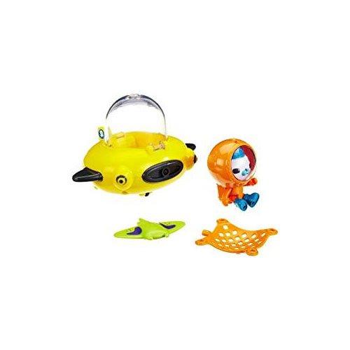 Mattel T7015 - Fisher-Price Die Oktonauten Guppy-Boot, Guppy-D und Käpt'n Barnius, mit Farbwechsel (Jake Und Die Nimmerland Piraten Boot)