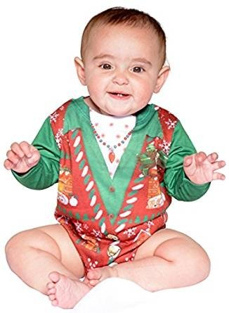 Realistic Infant Girls Ugly Christmas Vest Romper 6 Months Costume