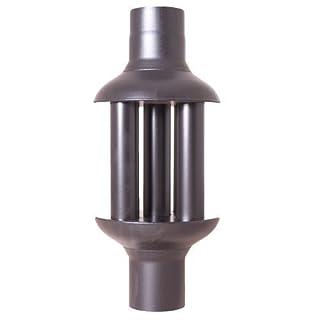 Acerto Heat Exchanger 30106 120mm/650mm Exhaust Gas Cooler Black for Flue