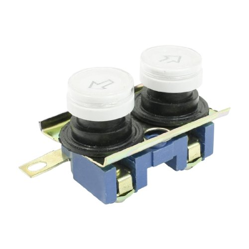 sourcingmap® 110-220V 10A 2 Wege Taster Doppelt Schraubklemmen Knopf für Hebekran