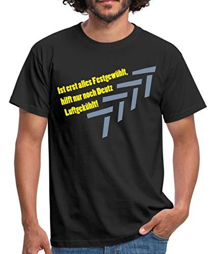 Spreadshirt Traktor Landwirtschaft Deutz Luftgekühlt Spruch Männer T-Shirt, XL, Schwarz
